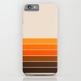 Golden Spring Stripes iPhone Case