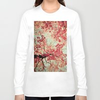 blood Long Sleeve T-shirts featuring Autumn Inkblot by Olivia Joy StClaire