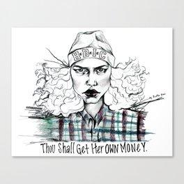 #STUKGIRL H.B.I.C Canvas Print