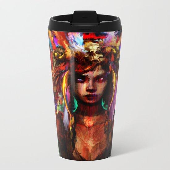 native girl Metal Travel Mug