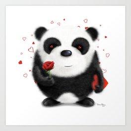 Valentine's Panda by dana alfonso Art Print