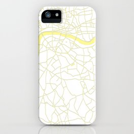 London White on Yellow Street Map iPhone Case