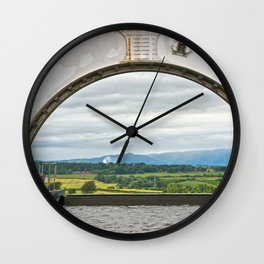 View From The Falkirk Wheel Wall Clock
