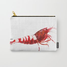 Red Zebra Pinto (acrylic and watercolor) Carry-All Pouch