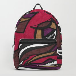 Draconic Turkey Street Art Style Abstract Drawing Backpack