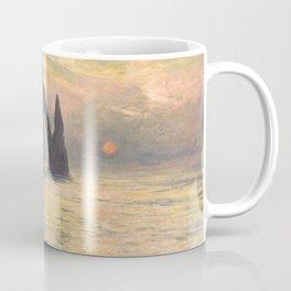 The Cliff Étretat Sunset Claude Monet Coffee Mug