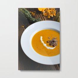 Pumpkin Soup Metal Print