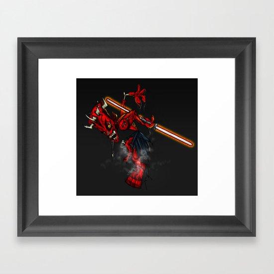 Zombie Darth Maul Framed Art Print