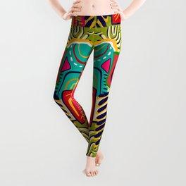 Geometric African Boho Pattern Leggings