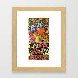 ROCKIN REVOLUTION Framed Art Print