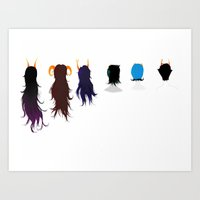 homestuck Art Prints featuring Homestuck Ladies by Paula Urruti