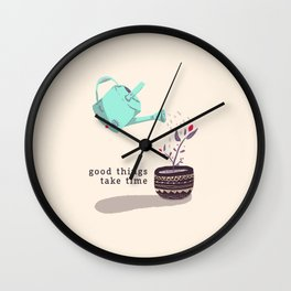 good things Wall Clock