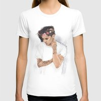 coconutwishes T-shirts featuring Zayn Floral Crown by Coconut Wishes