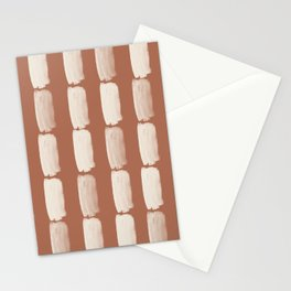 Sherwin Williams Creamy Off White SW7012 Grid Brushstrokes on Cavern Clay SW 7701 Stationery Cards