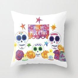 Dia de Muertos / Day of the Dead Throw Pillow