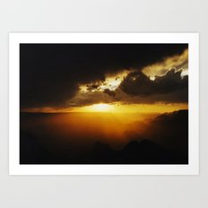 Canyon Sunset Art Print