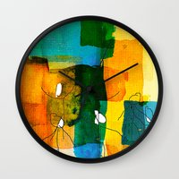 the neighbourhood Wall Clocks featuring neighborhood by Kay Weber