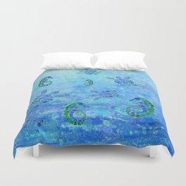 Sea Turtle Batik Duvet Cover