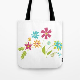 Cheery Spring Floral Tote Bag