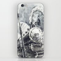 train iPhone & iPod Skins featuring Train by Grim Dream Art