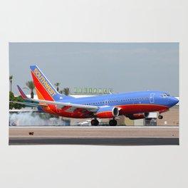 Southwest Airlines 737 landing Rug
