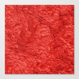 very thick painted, fire red Canvas Print