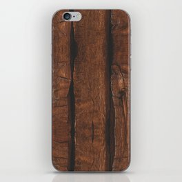 Rustic brown old wood iPhone Skin