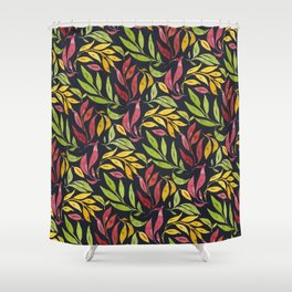 Loose Leaves - warm colors Shower Curtain