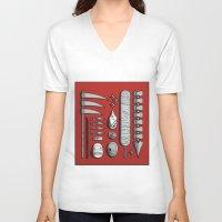kakashi V-neck T-shirts featuring aktsuki by Daniel Sangil