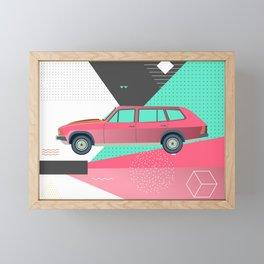 Retro Pink 80s Station Wagon Framed Mini Art Print