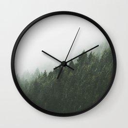 Green with Fog Wall Clock