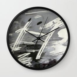 Black and white symphony Wall Clock