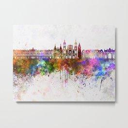 Nancy skyline in watercolor background Metal Print