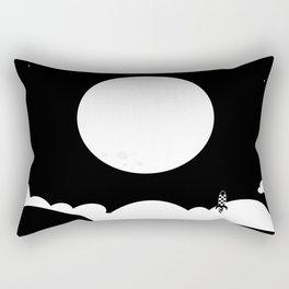 To The Moon - bnw (instagram) Rectangular Pillow