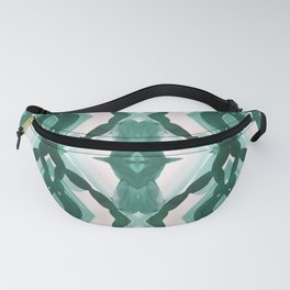 Watercolor Green Tile 1 Fanny Pack