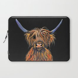 Scottish Highland Cow ' NED ' by Shirley MacArthur Laptop Sleeve