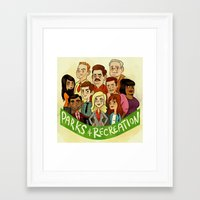 parks and recreation Framed Art Prints featuring Parks and Recreation by Michael Ramstead