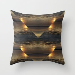 Sunset Kaliedoscope Throw Pillow