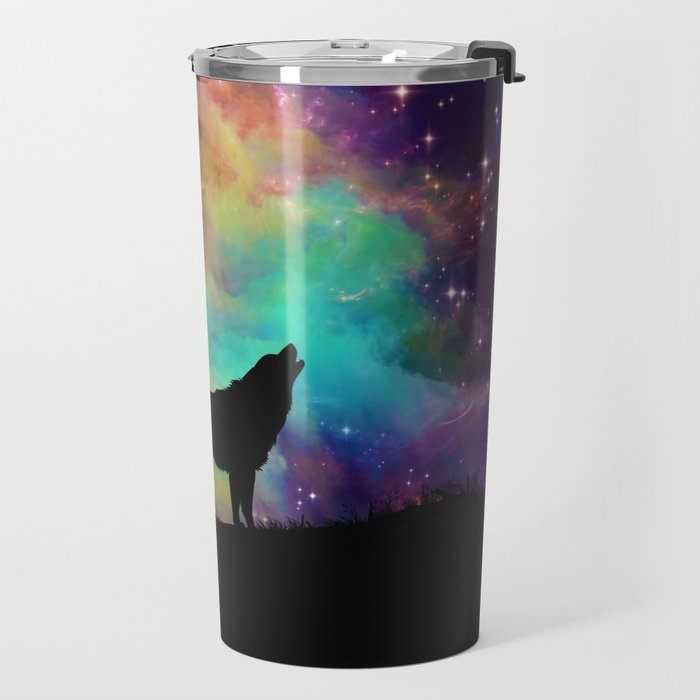 Wolf Galaxy Travel Mug