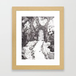 We are building a road that leads to a door Framed Art Print