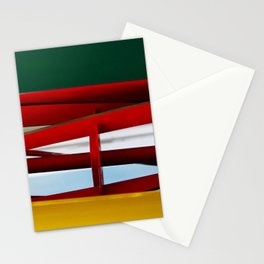 "tricolor lawnmower ""flag"" abstract Stationery Cards"