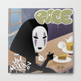No Face Mm.. Food (MF Doom + Spirited Away) Metal Print