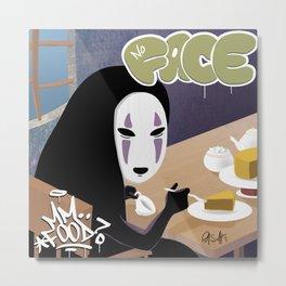No Face Mm.. Food (MF Doom + Spirited Away) Metal Print