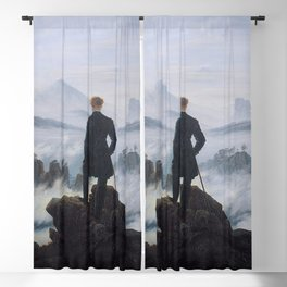 WANDERER ABOVE THE SEA OF FOG - CASPAR DAVID FRIEDRICH Blackout Curtain