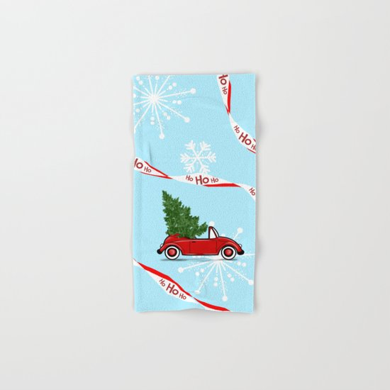 On The Road For Christmas ! Hand & Bath Towel