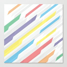 Tech geometric colorful lines background #society6 #decor #buyart #artprint Canvas Print
