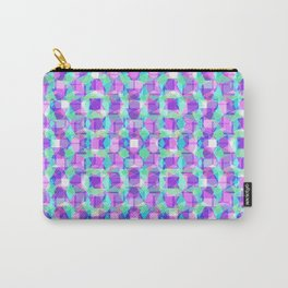 Purple, Blue & Green Pattern Carry-All Pouch
