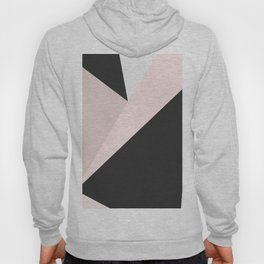 Geometrical pastel pink black white abstract triangles Hoody