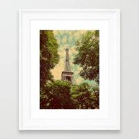 postcard Framed Art Prints featuring Postcard by Emma.B