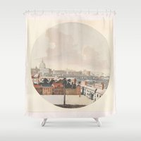 rome Shower Curtains featuring Rome by anipani